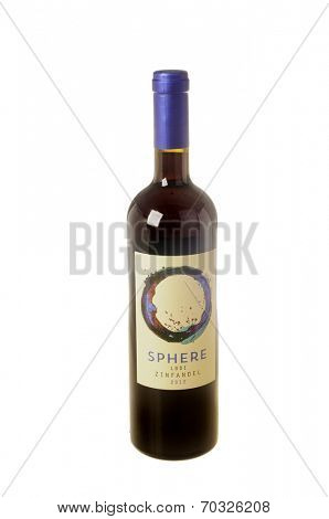 West Point - August 17, 2014: Bottle of 2012 Sphere, a  Lodi (Central Valley) Zinfandel