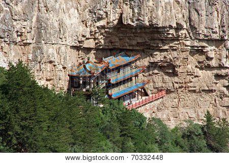 Heng Shan Monastery In Shanxi Province Near Datong, China