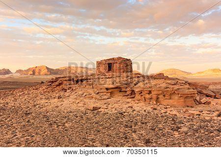 Nawamis Tombs At Sunset.  Sinai, Egypt