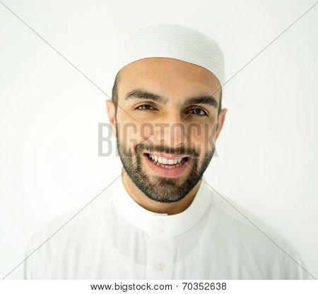 Arabic young businessman posing