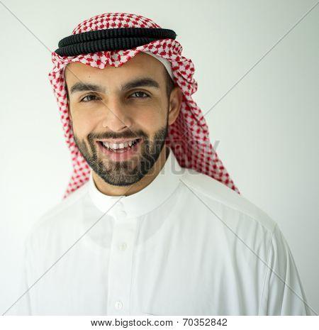 Saudi Arabian young businessman posing