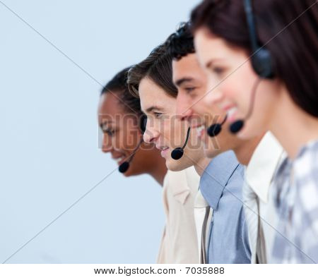 Cheerful Customer Service Representatives