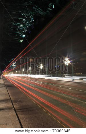 Newcastle / Gateshead Tyne Bridge Light Trails