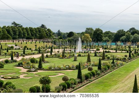 The Privy Garden at Hampton Court Palace near London poster