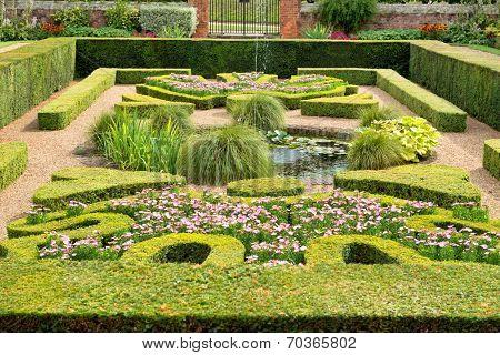 Sunken Garden at Hampton Court Palace near London, UK