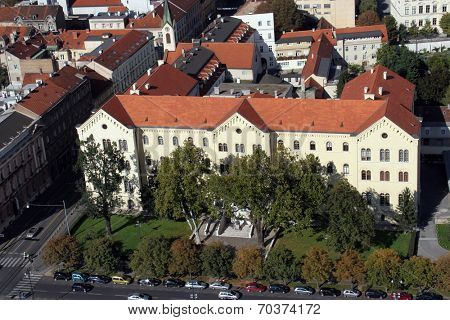 ZAGREB, CROATIA - OCTOBER 14: University Rector's Building in Zagreb on October 14, 2007 Zagreb, Croatia.
