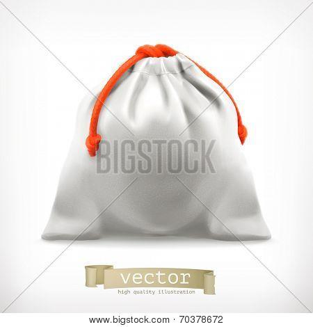 Cloth bag, vector illustration