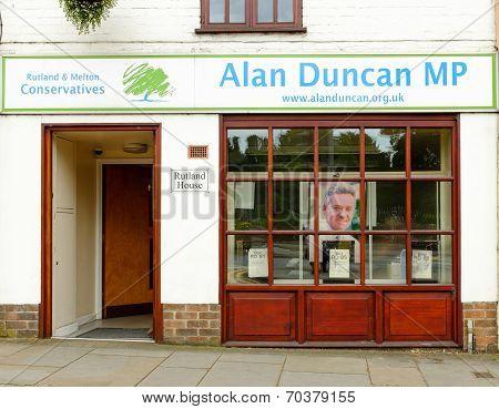 The office of Rt Hon Sir Alan Duncan MP