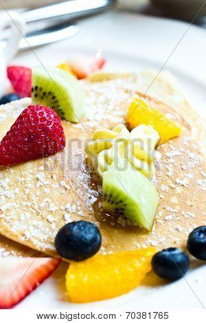 Fresh Fruit Pancakes.
