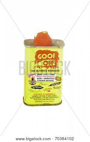 West Point - August 17, 2014: Can of Goof Off, the ultimate remover of many common sources of stains