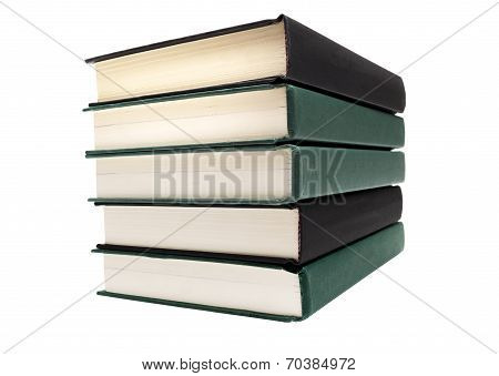 Big Stack Of Books Isolated