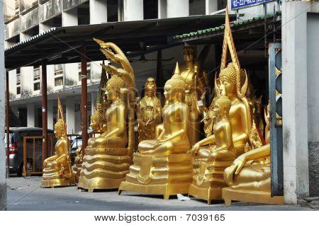 Gold Buddha Group Set Wayside