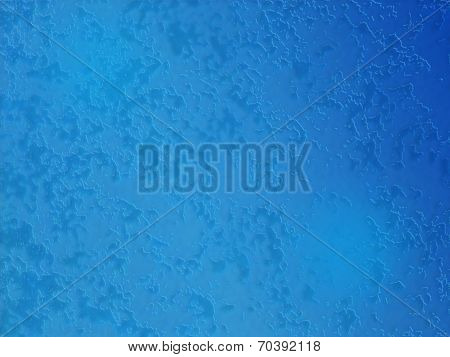 Sponge texture background Blue in color with a dark vignette poster