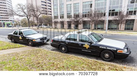 State Troopers Cars Parked In University campus.