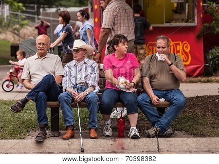 People Eating At The Iowa State Fair
