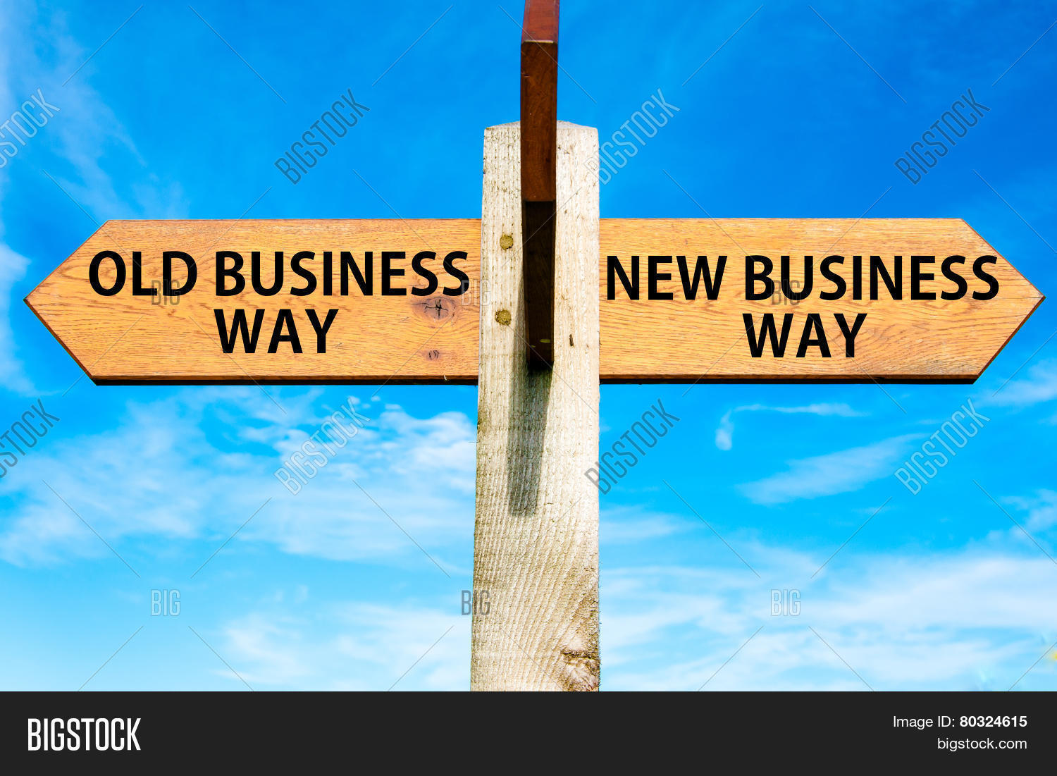 Old Business Way Versus New Image & Photo | Bigstock