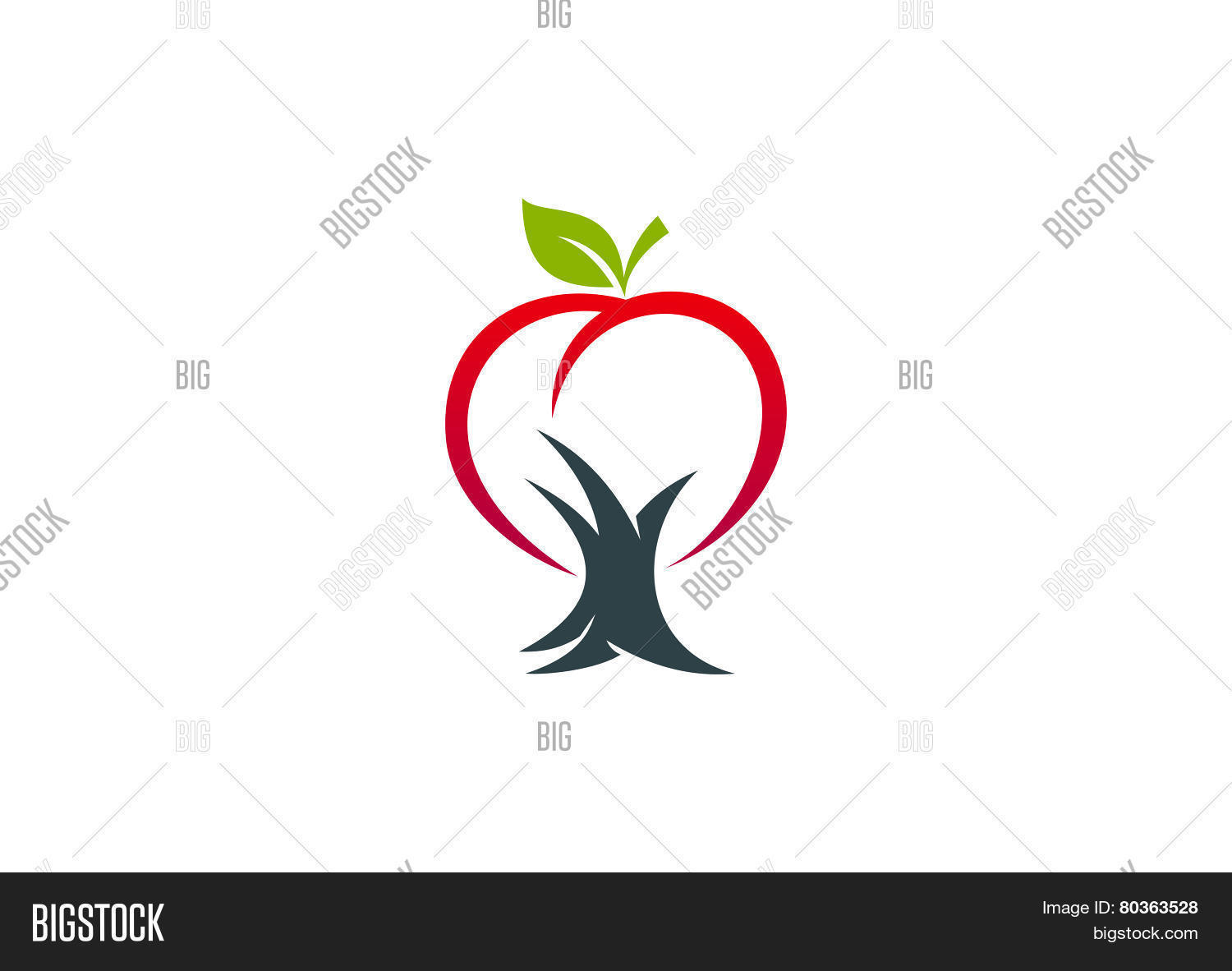 Apple Tree Logo Vector Photo Free Trial Bigstock