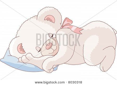 Cute Teddy Bear  sleeping