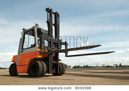Warehouse Forklift Loader Outdoors