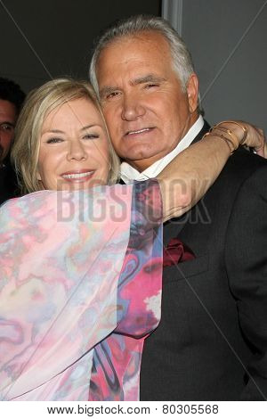 LOS ANGELES - JAN 14:  Katherine Kelly Lang, John McCook as the  Bold and Beautiful Celebrates 7000th Show at a CBS Television City on January 14, 2015 in Los Angeles, CA