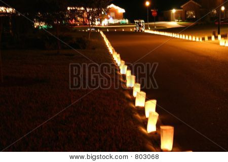 luminaria at night