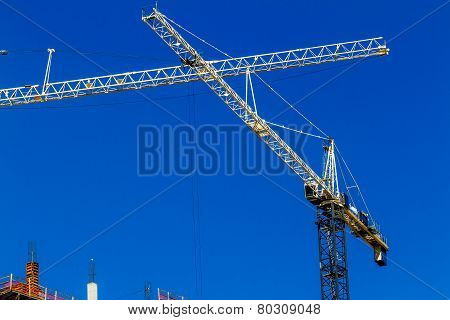 Industrial Cranes in High-Rise Construction Work