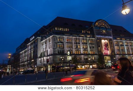 Berlin, Germany - November 12, 2014: Buyers Aim To Kaufhaus Des Westens Department Store In Berlin,