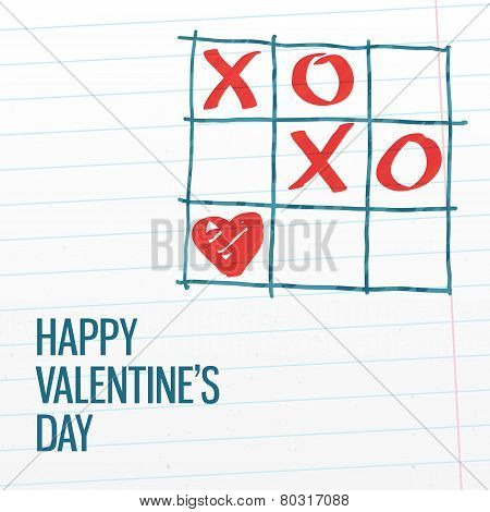 Happy Valentine's Day Xoxo Greating Card.