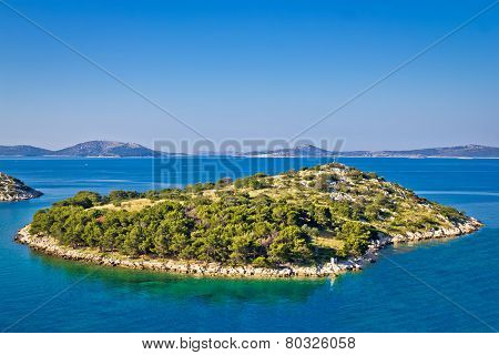 Small Island In Archipelago Of Croatia