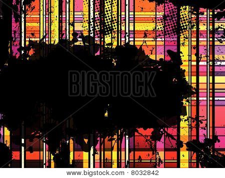 Checkered Yellow and Orange Grunge Background. Eitable Vector Illustration