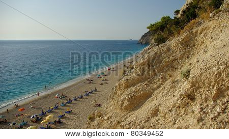 Egremni beach in Levkas, Ionion sea, Greece
