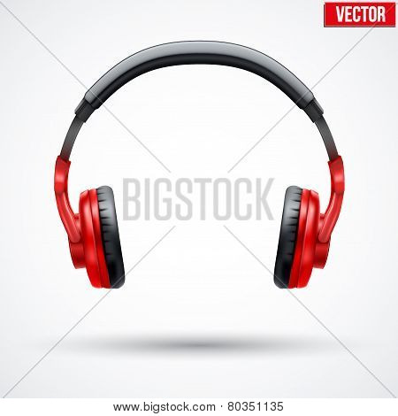 Vector Headphones Isolated on White Background