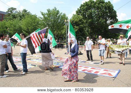 Protest The Syrian Diaspora Against Russia's Support Of Assad's Regime