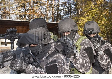 special anti-terrorist squad, coached at the shooting range