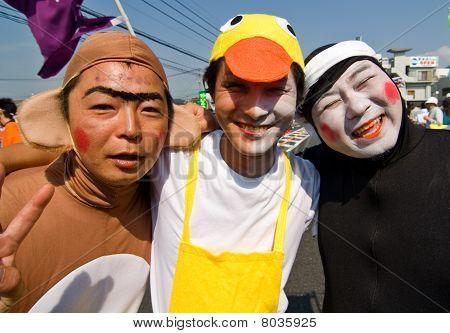Japanese Festival Dancers in makeup