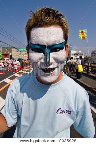 Japanese Festival Dancer in makeup
