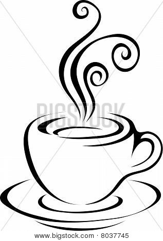 Line Art Black Coffee Icon