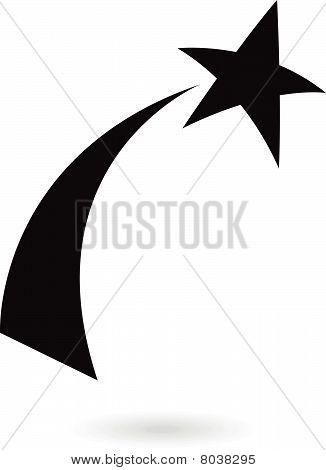 Black Shooting Star Icon