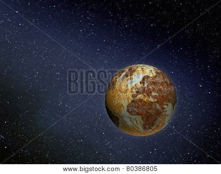 Rusty Earth In Space