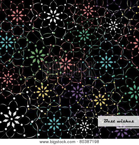 Colourful flower pattern background