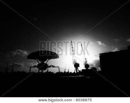 Alien Tripod In The Docklands