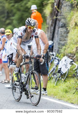 Florian Guillou On Col Du Tourmalet - Tour De France 2014