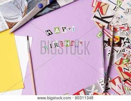 Happy bithday - ransom note style