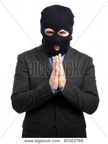 Politician dressed as a thief poster