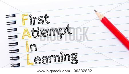Fail Acronym As First Attempt In Learning