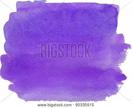 Abstract watercolor hand paint violet texture