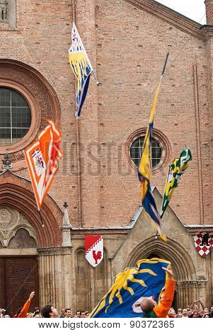 Fly Of Medieval Flags