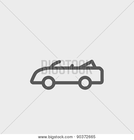 Convertible icon thin line for web and mobile, modern minimalistic flat design. Vector dark grey icon on light grey background.