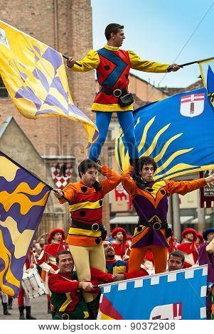 Performers In Medieval Costumes