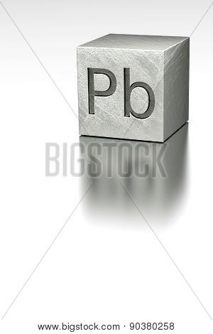 Lead Cube With Plumbum Mark